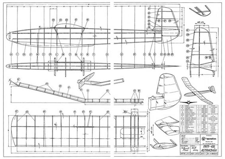 Astrachan model airplane plan