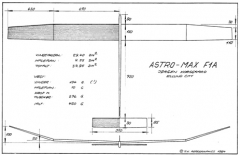Astro Max F1A model airplane plan