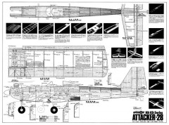 Attacker-28 model airplane plan