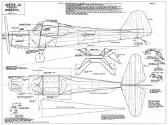 Auster J4 Powakits 54in model airplane plan