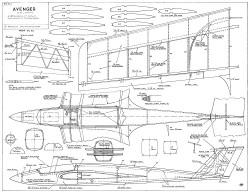Avenger 50in slope model airplane plan