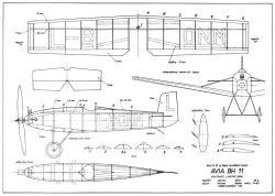 Avia BH-11 19in model airplane plan