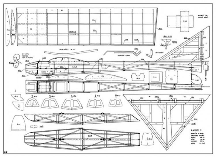 Avion II model airplane plan