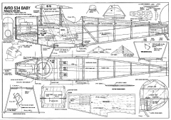 Avro 534 Baby 44in model airplane plan