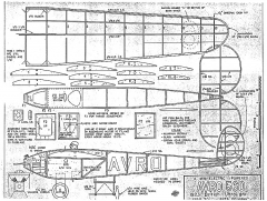 Avro 560 electric model airplane plan
