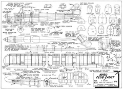 Avro Club Cadet model airplane plan