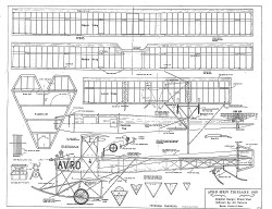 Avro MkIV Triplane model airplane plan
