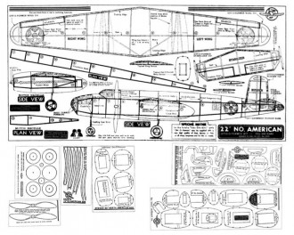 B-25 model airplane plan