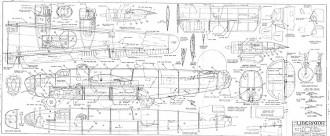 B-24 Liberator model airplane plan