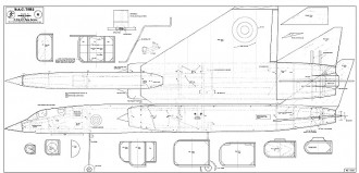 BAC TSR-2 model airplane plan
