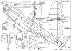 BAM Swallow 62in model airplane plan