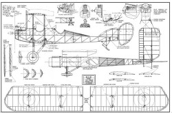 Royal Aircraft Factory B.E. 2C model airplane plan