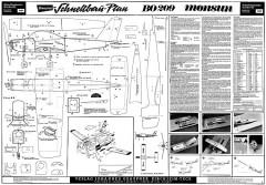 BO-209 Monsun Graupner model airplane plan