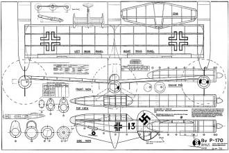 BV P-170 model airplane plan