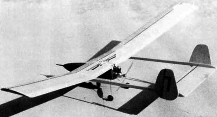 Baby Boomer model airplane plan