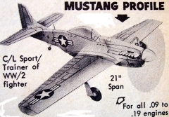 Baby Mustang model airplane plan