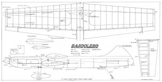 Bandolero CL model airplane plan