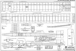 Barracuda RCM-536 model airplane plan