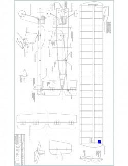 Batedor II model airplane plan