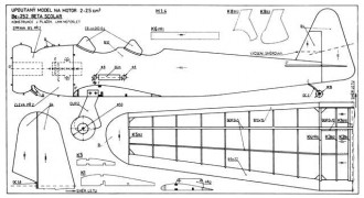 Be 252 Beta Scolar model airplane plan