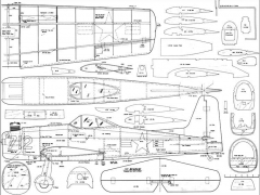 F8F Bearcat model airplane plan