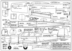 Beech Bonanza V35A plan model airplane plan