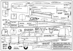 Beech Bonanza V35A plan model airplane plan
