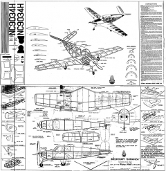 Beech Bonanza model airplane plan