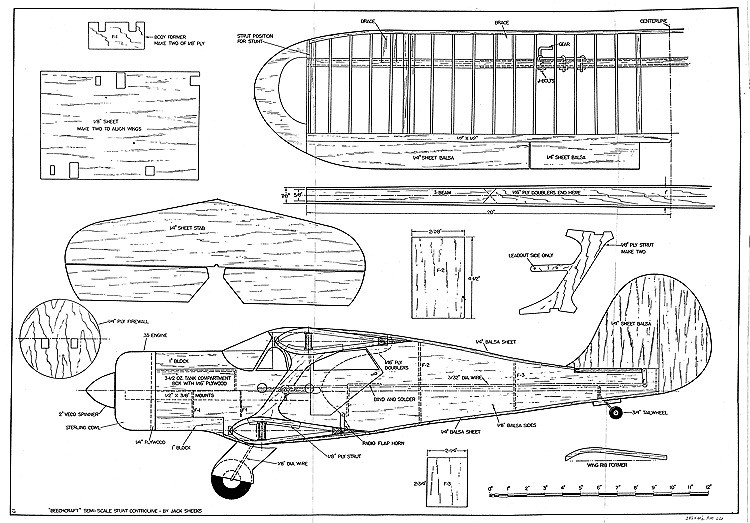 Beechcraft model airplane plan
