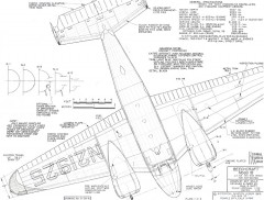Beechcraft Model 18 model airplane plan