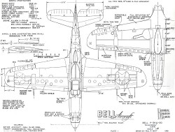 Bell P-39 Q-20 Aircobra model airplane plan