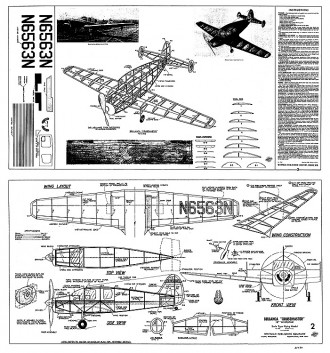 Bellanca Cruisemaster Whitman model airplane plan