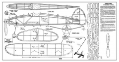 Berkeley Chieftain model airplane plan