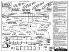 Berkeley V-16 model airplane plan