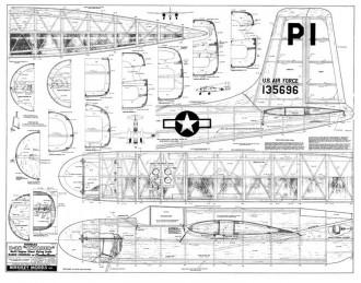 B-26 model airplane plan