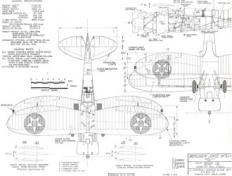 Berliner-Joyce XF3J-1 model airplane plan