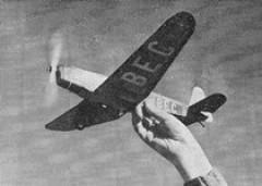 Beta Be 56 model airplane plan