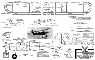 Bi-Hawk RC model airplane plan