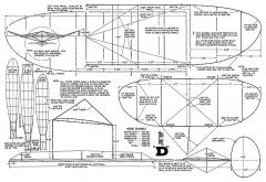 Big-D indoor model airplane plan