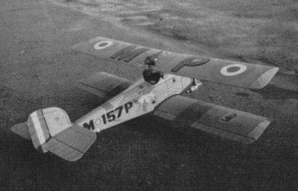 Biggles model airplane plan