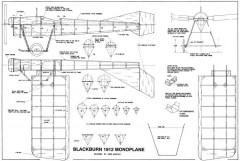 Blackburn Type D Monoplane model airplane plan