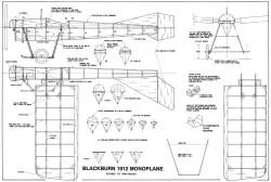 Blackburn Type D Monoplane model airplane plan