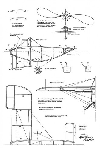 Blériot V Canard model airplane plan