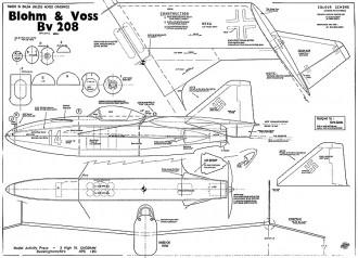 Blohm Voss Bv-208 model airplane plan
