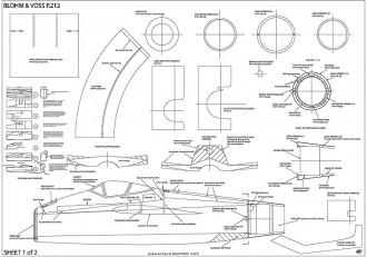 Blohm Voss P212 model airplane plan