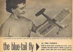 Blue Tail model airplane plan