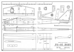 Boby PS-05 model airplane plan