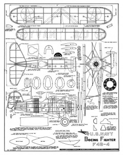 Boeing F4B-4 2 model airplane plan