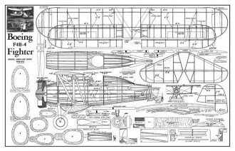 Boeing F4B4 model airplane plan