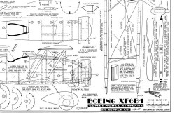 Boeing XF6B-1 model airplane plan